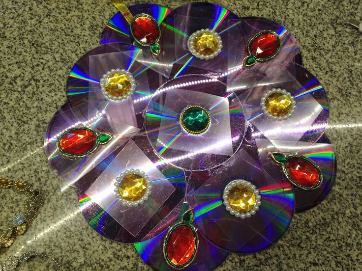mandalas hechos con cd, mandala, mandala navideño, como hacer mandalas, como reciclar cd