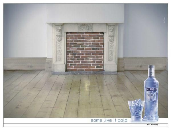 """Smirnoff North Vodka: """"FIREPLACE"""" Outdoor Advert  by Spot Thompson Total Communication Group"""
