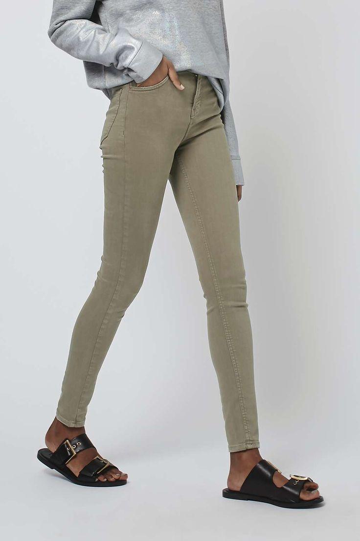 MOTO Khaki Jamie Jeans