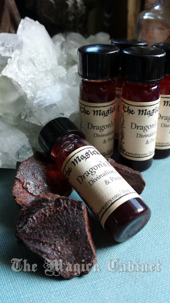 Dragon's Blood Oil Exorcism, Purification, Protection, Sexual Energy, Love by TheMagickCabinet, $9.95