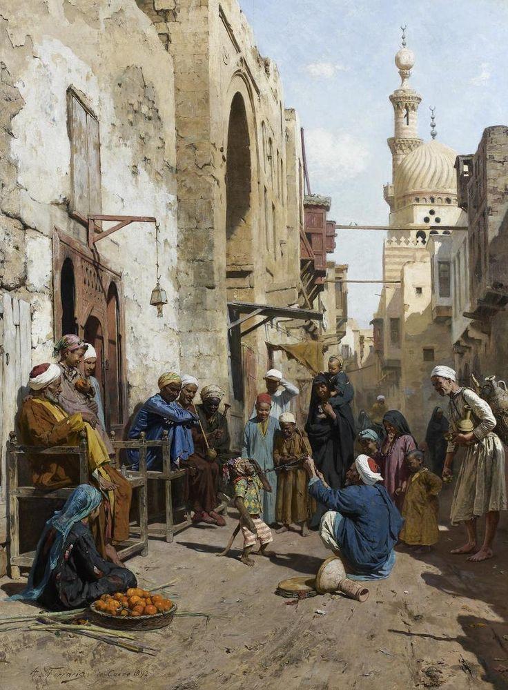Arthur von Ferraris, A Cairo Street, 1892