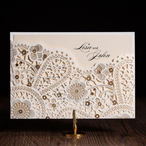 White-Gilding-Free-Personlize-Laser-Cut-Wedding-Party-Invitation-Cards-Envelopes