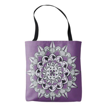Mandala meditation yoga tote with customizable bg - accessories accessory gift idea stylish unique custom