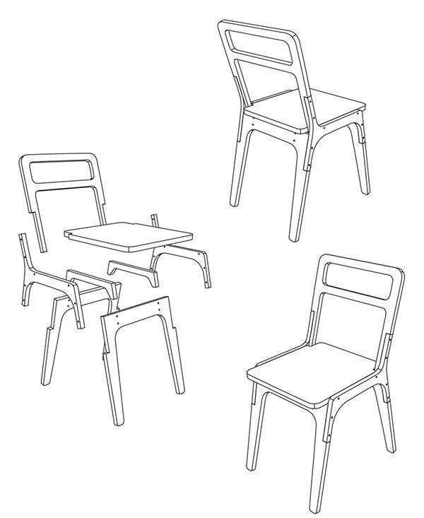 slim chair by pachek ., via Behance