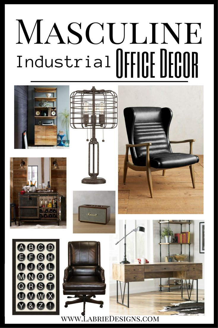 I Put Together An Industrial Office Styling Guide With An Added Touch Of  Mid Century Style. Enjoy! Mad Men   Man Cave ...