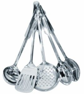Must Have Kitchen Gadgets:Amco Stainless Steel 5-Piece Utensil Set