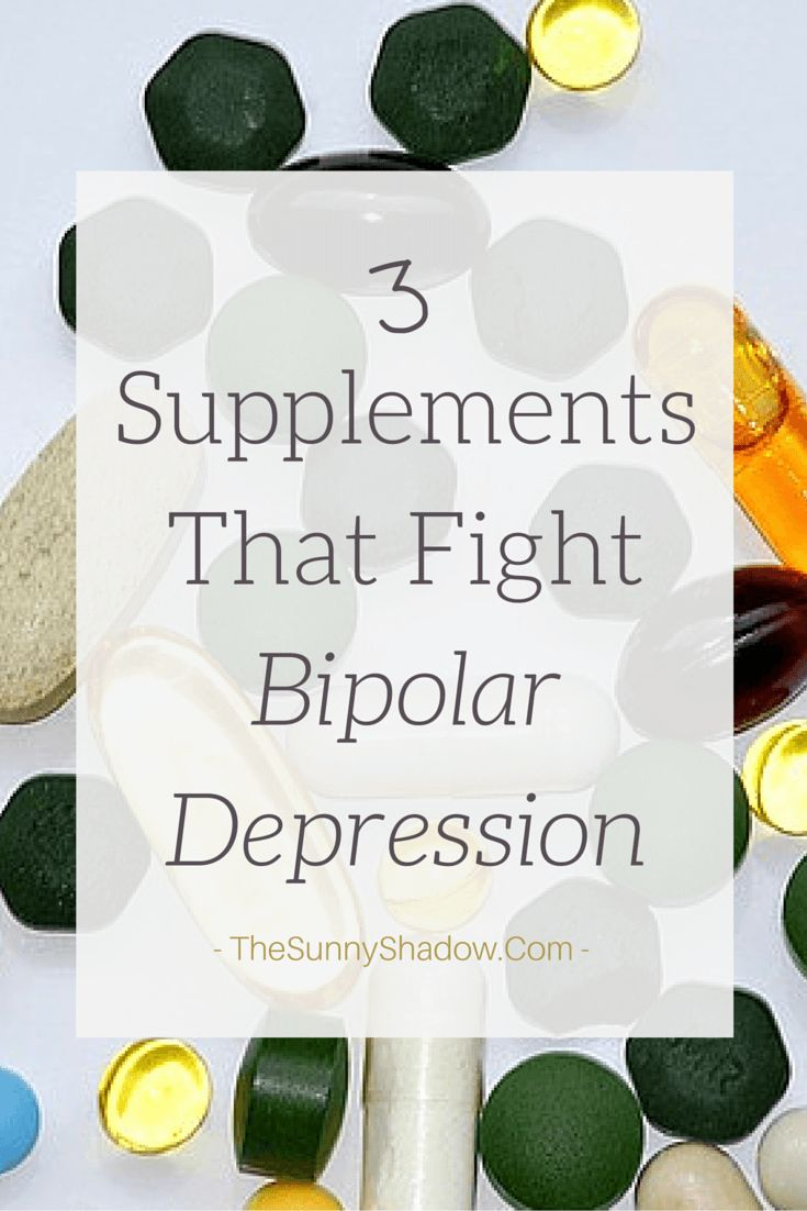 3 Supplements That Fight Bipolar Depression