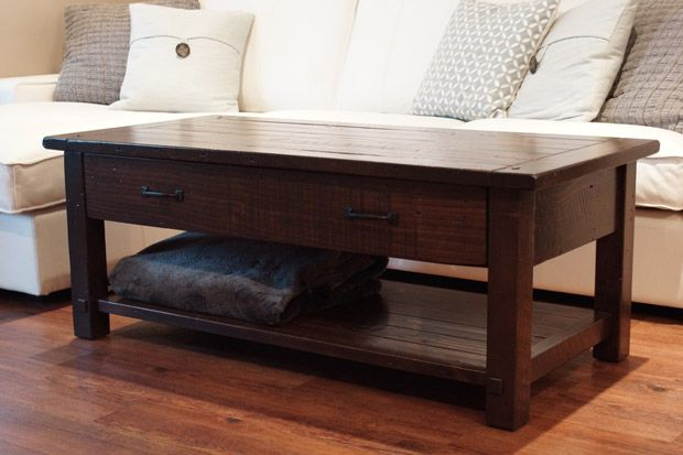 French Antique Coffee & Accent Table / Liken Woodworks