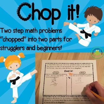Are your students struggling to understand two-step word problems?Whether it is a reading issue or a math issue getting in the way, the word problems in this resource are uniquely designed provide a high level of support for students who need it.  First, the key words in the problems are in bold to draw students attention to them.