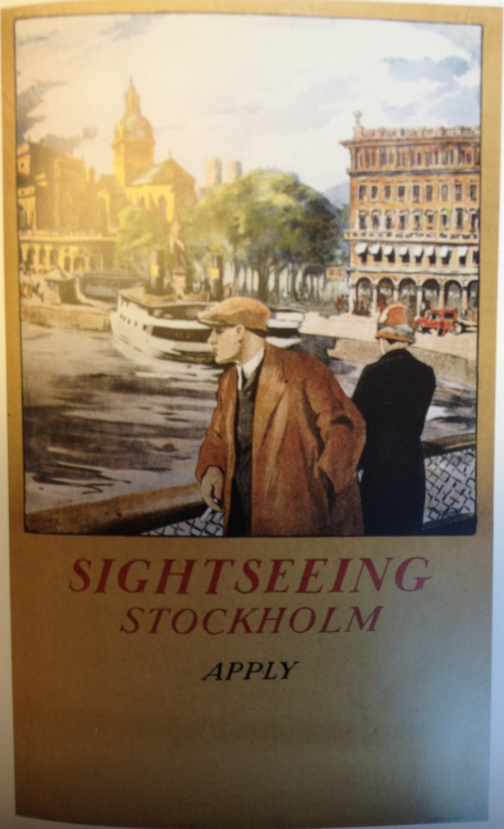 Sightseeing Stockholm - an old brochure from the city.