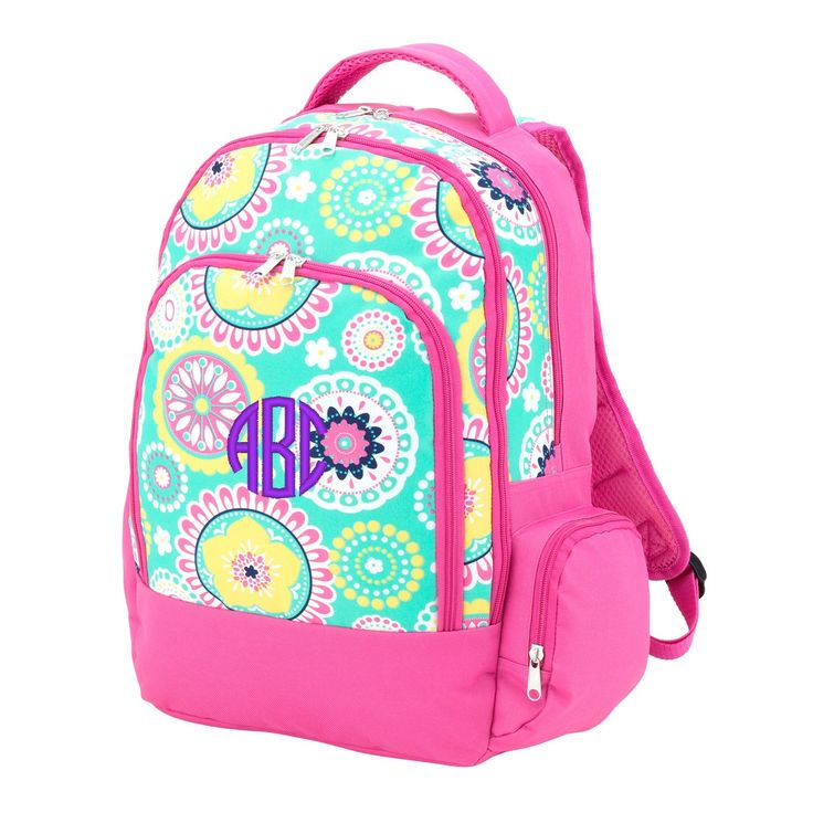 Personalized Backpack Medallion Paisley