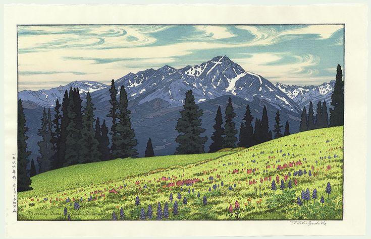Mt.  Heilig Kruis, Vail, Colorado, 1966 door Toshi Yoshida (1911-1995)