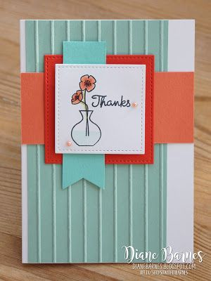 Simply scraps and a vase pinterest sydney australia cards and handmade thank you card using stampin up varied vases stamp set and punch bundle card m4hsunfo