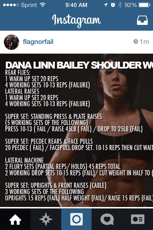 Flag nor fail shoulder workout