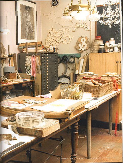 wendy addison studio, one of my favorite artists.: Art Studios, Papercrafts, Wendyaddison, Dream Studios