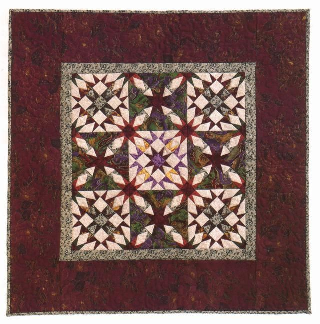 Miniature Quilt Patterns Paper Pieced : Try This Miniature Whirlwind Quilt Pattern if You Love Paper Piecing Traditional, Miniature ...