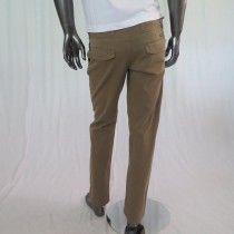 Pantalone uomo made in Italy colore marrone chiaro con tasche laterali e posteriori
