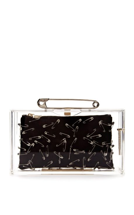 Pandora Clutch with Pins by Charlotte Olympia x Tom Binns Now Available on Moda Operandi
