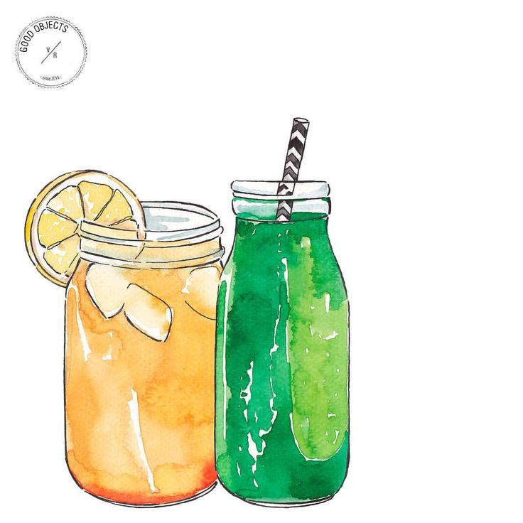 """513 Likes, 3 Comments - Good Objects Illustration (@goodobjects) on Instagram: """"Good objects - Smoothies to start the week #goodobjects #watercolor #illustration"""""""