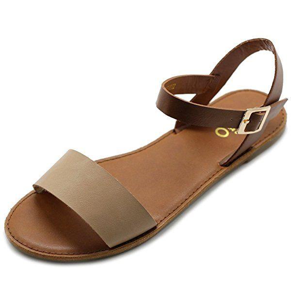 200c995bc1ea8 Amazon.com | Ollio Women's Shoe Comfort Simple Basic Ankle Strap ...