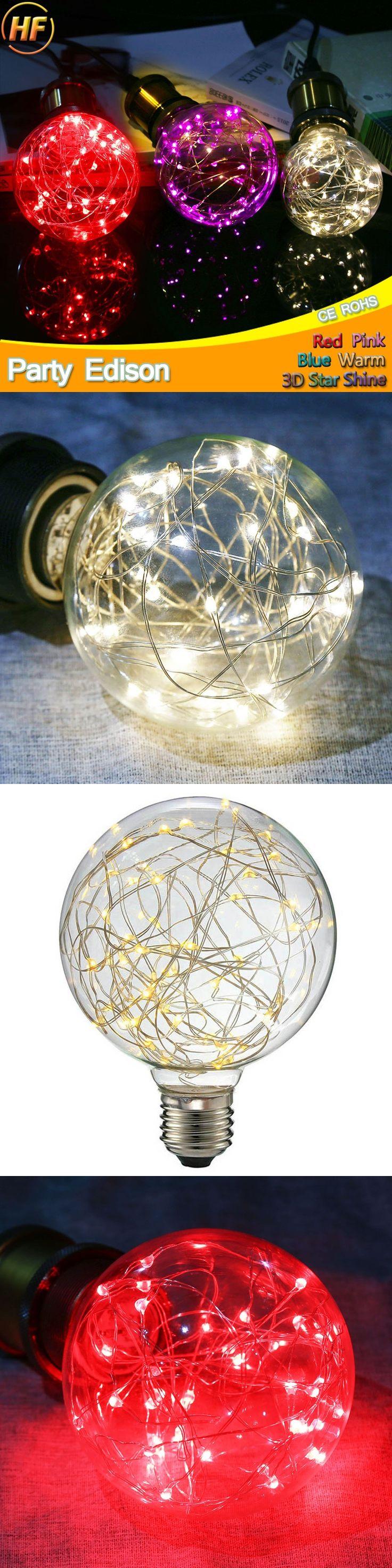 New Design Fairy LED Filament Light E27 G95 Retro Vintage LED Edison Bulb 220V 240V Lampada Ampoule Bombilla Glass Light