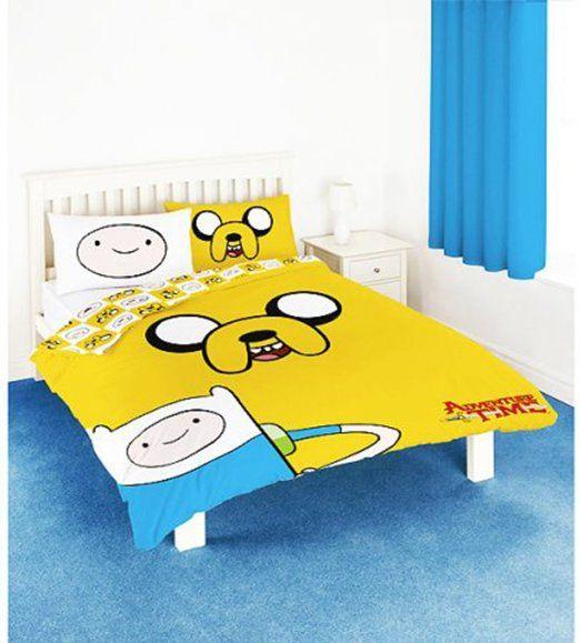 Bettzeug für breite Bettdecke, Motiv: Abenteuerzeit mit Jake und Finn