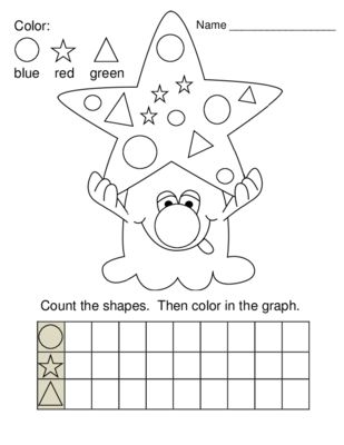 Graphing Shapes Monster Printable from Roth's Resources on