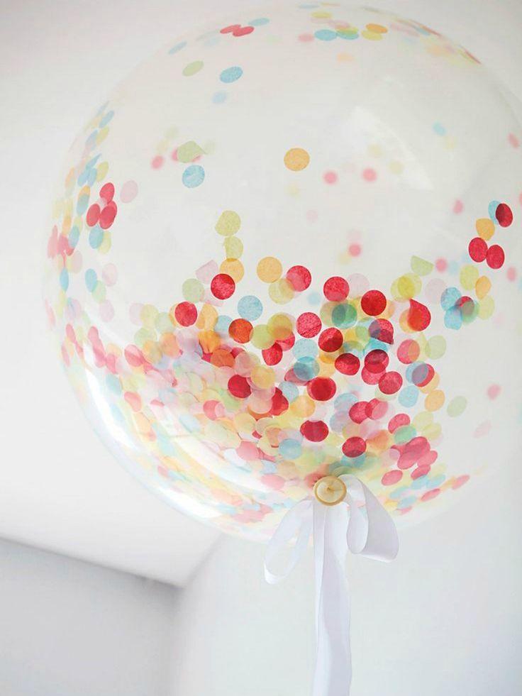 globos transparentes con confetti