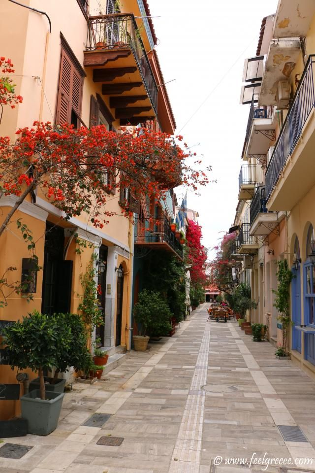 A street of colors; photo from Nafplio, Argolis Region