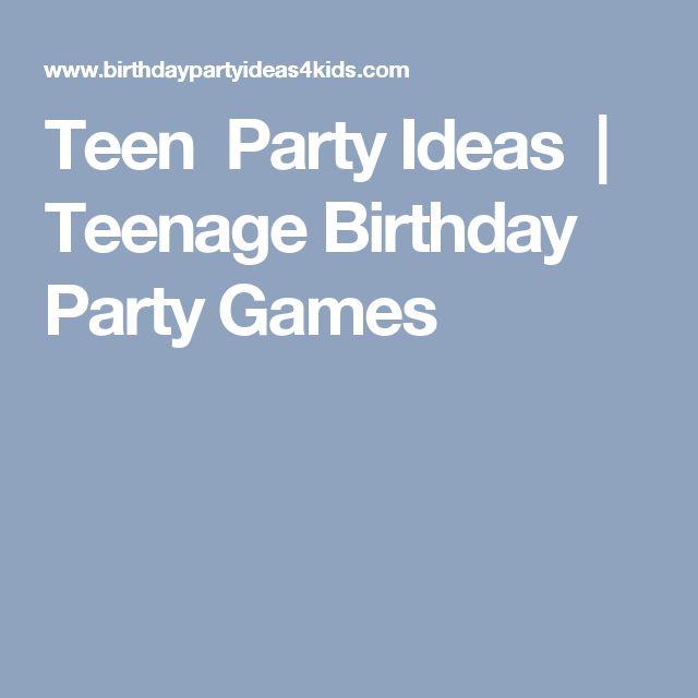 Die Besten 25 Jugendlich Geburtstag Spiele Ideen Auf Pinterest