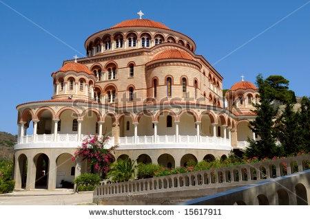 The Monastery of Saint Nectarios on the island Aegina, Greece