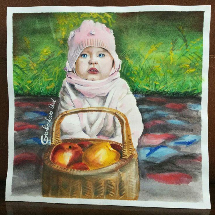 Маленькая малышка👶3 дня рисования,но есть над чем работать🙈 Медленно ,но верно❗ Дети цветы жизни👼тяжело когда теряют их ,пусть все дети будут здоровы🙌 #GrebenkovaArt #ГребеньковаАрт #doodleandsketch #рисуюназаказ #рисую #гуашь #москва #moscow #сзао