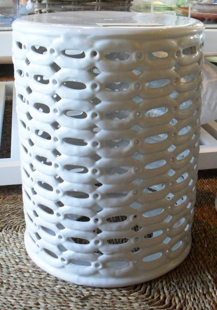 White Ceramic Side Table - Inside Out Home Boutique