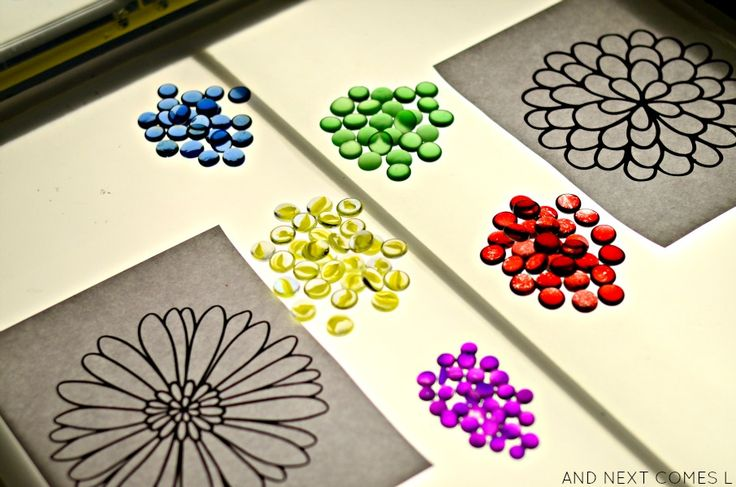 Flower Mandalas on the Light Table {Light & Reflections Series} | And Next Comes L