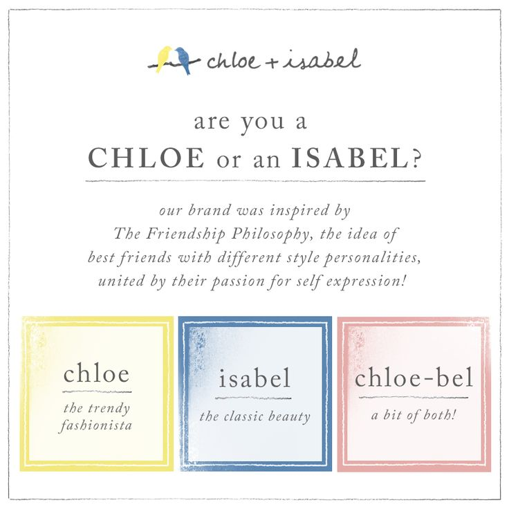 Who are Chloe + Isabel? Chloe   Isabel is a jewelry + lifestyle brand, dedicated to empowering women everywhere! Their brand represents the idea of two best friends with different personalities and…