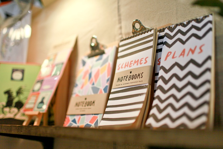 notebooks by rocket ink | via oh so beautiful paper