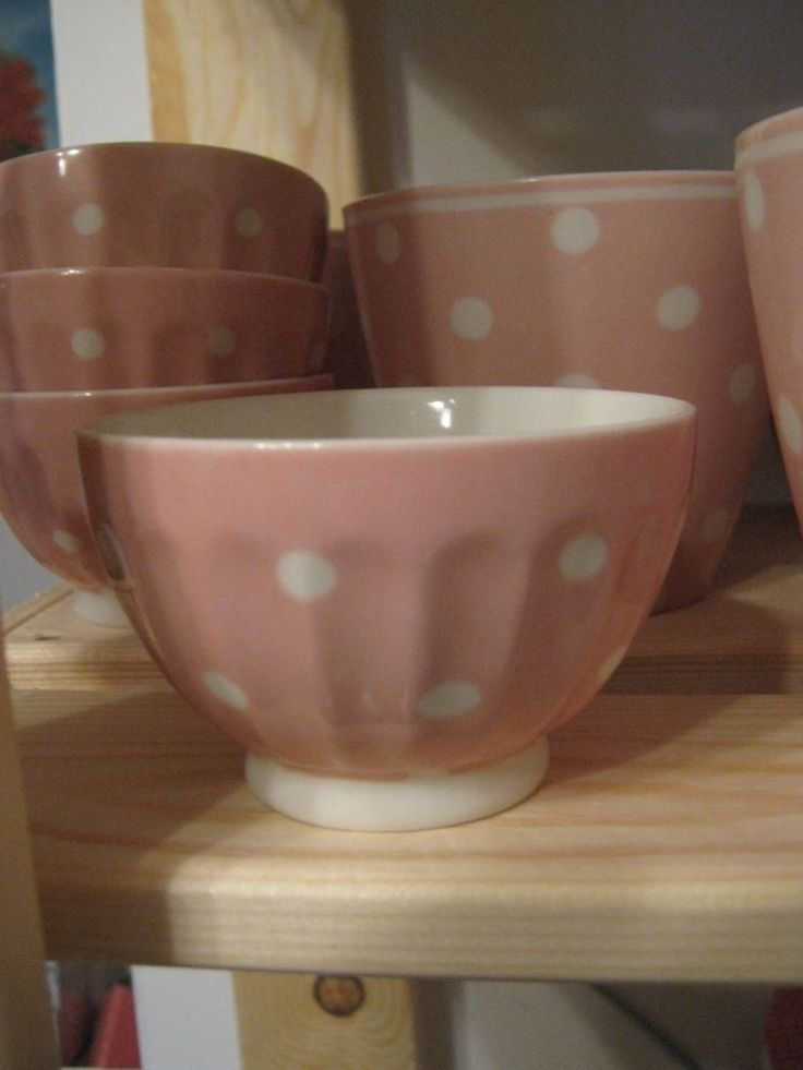 Greengate tazzina pois rosa French bowl naomi pink small d.8 cm