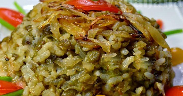Veganana: Mjadra, Arroz com Lentilhas à Moda Árabe