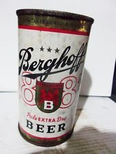 BERGHOFF FLAT TOP BEER CAN  -[STATE OF MICHIGAN TAX PAID STAMP]-