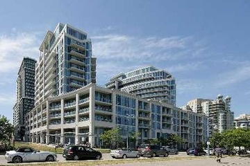 New Price! $549,888 Toronto Waterfront   2 Bed Plus Den  Luxurious Modern Sub-Penthouse Filled With Upgrades! You Will Love Living Here! Foyer Marble Floors, Granite Countertops, Pot Lights, Famous Cocoa Patisserie amp;amp; Eden Trattoria On Main Flr, 2 Frameless Glass Showers. Built-In Wood Deck W/ Apx 200 Sqft Of Breathtaking Unobstructed View Of City Skyline amp;amp; Lake, Steps From Transit, Trails amp;amp; Parks, Tons Of Amenities.
