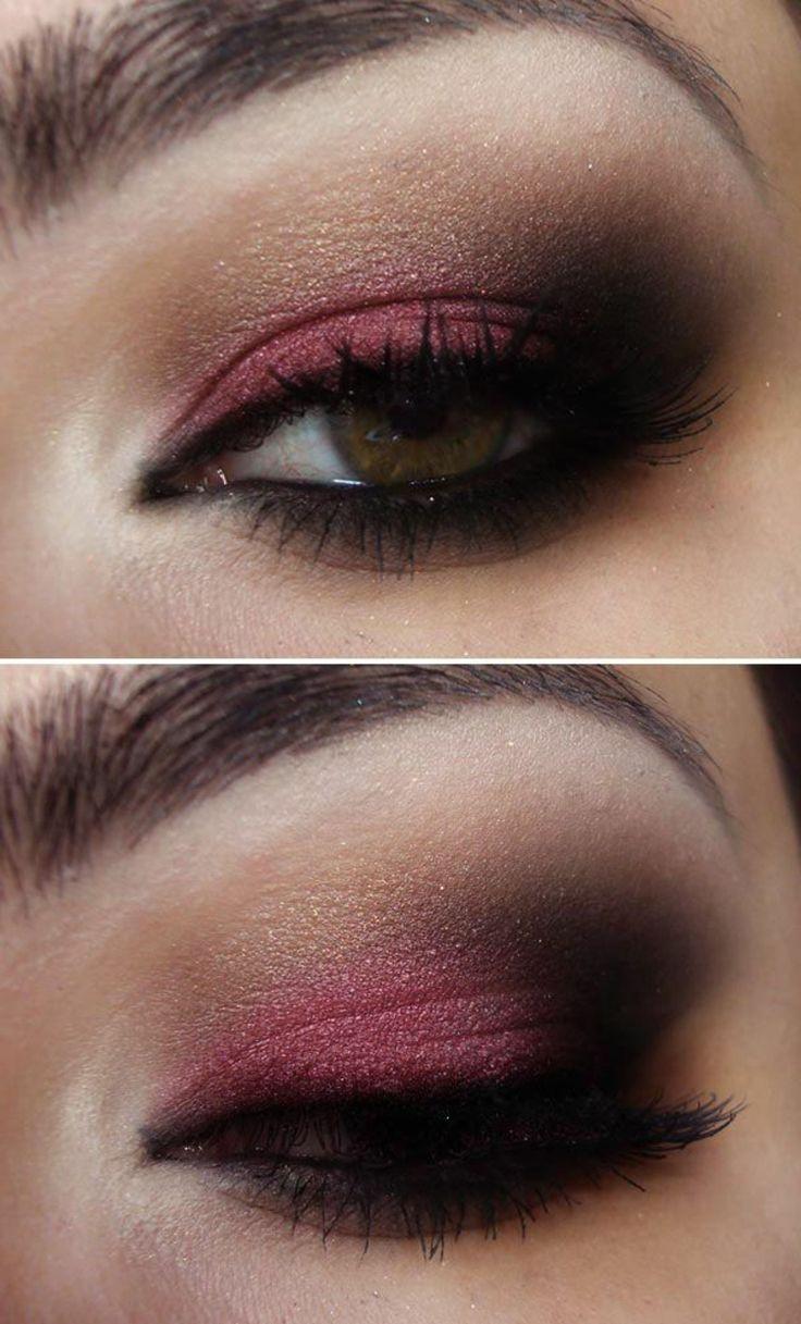 Image result for maquillaje de ojos color vino
