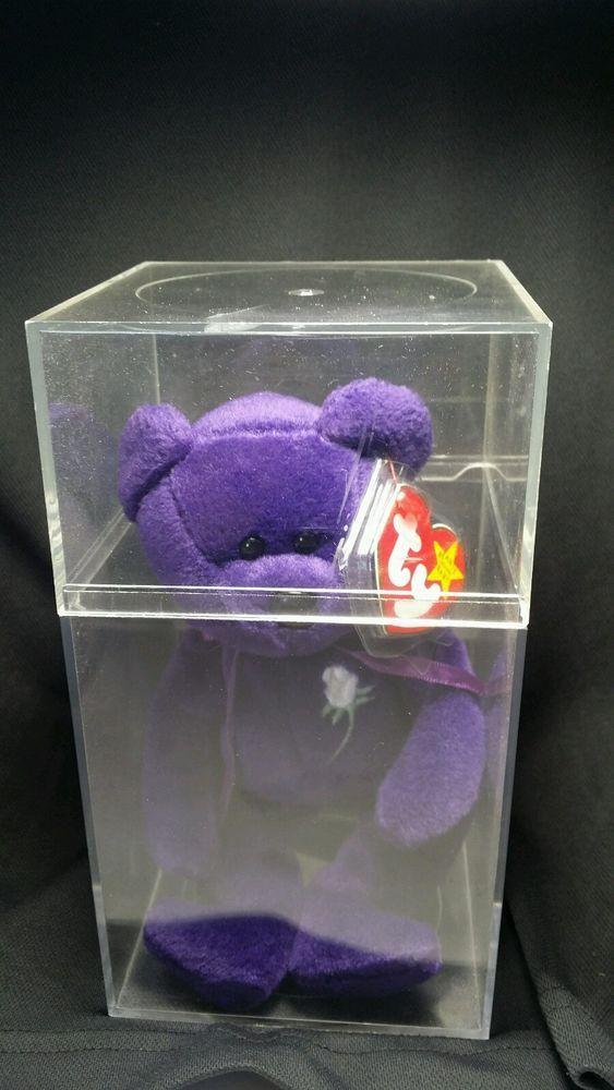 TY PRINCESS DIANA BEAR BEANIE BABY 1997 1ST ED. PVC PELLETS NO SPACE CHINA MINT