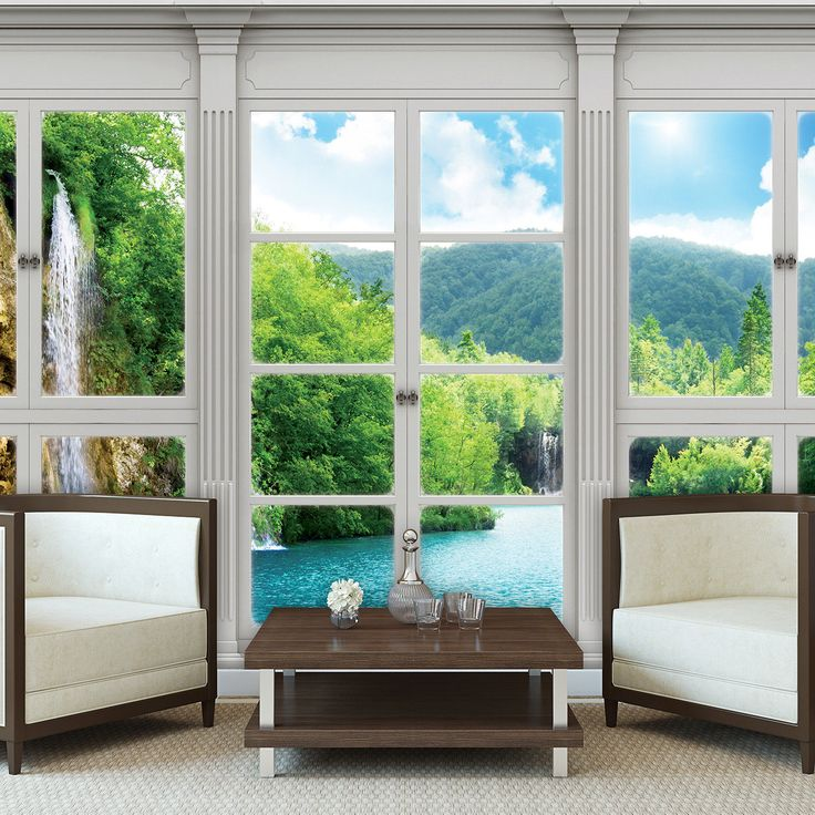 25 best ideas about fototapete fenster on pinterest. Black Bedroom Furniture Sets. Home Design Ideas