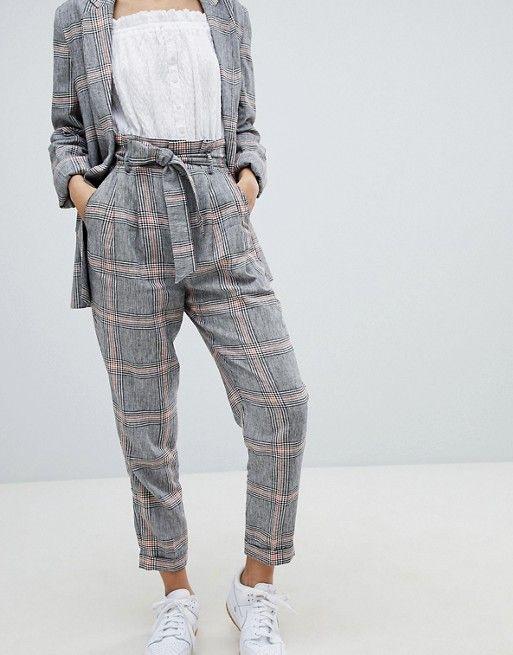 c99a5f1a9 Bershka Check Peg Leg PANTS in 2019 | Clothing & Accessories ...