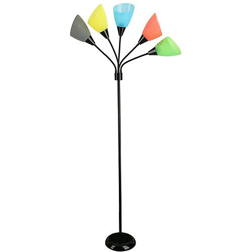 Your zone 5 light floor lamp for Your zone floor lamp replacement shades