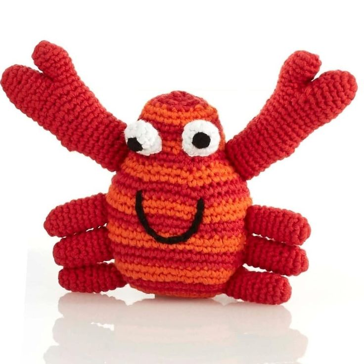 Good things come in three's...and our third new arrival this week will be this happy little crab  he's waiting for you with open arms! . . #thecottontree #ilfracombe #devon #woolacombe #braunton #bideford #barnstaple #croyde #combemartin #craft #handmade #devonpixels #shoplocal #crochet #babyshower #Babyrattles #babytoys #Babyboutique #crab #crablegs #organiccotton #organiccottonbabyclothes #thinkbigshopsmall #pebbletoys
