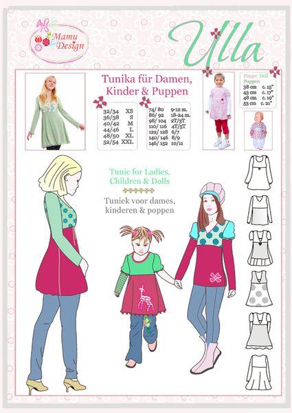 Ulla+Variance+Pattern+for+Woman+Girl++&+Doll+from+Mamu+Design+by+DaWanda.com