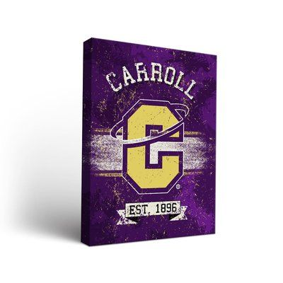 """Victory Tailgate NCAA Banner Version Framed Graphic Art on Wrapped Canvas NCAA Team: Carroll College Saints, Size: 36"""" H x 24"""" W x 1.5"""" D"""