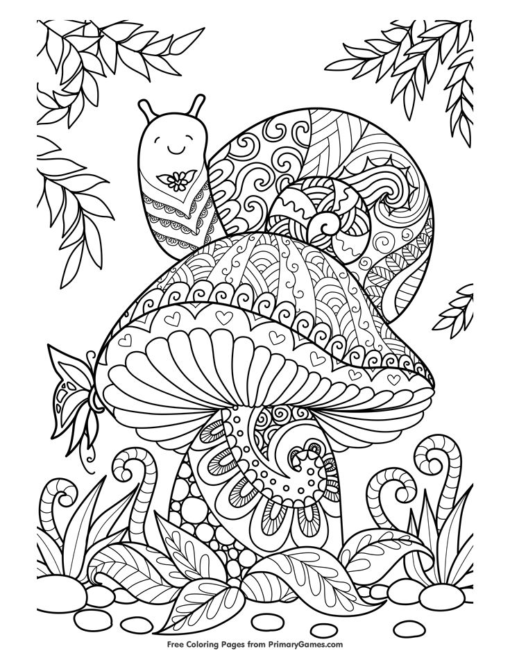 Fall Coloring Pages eBook Snail