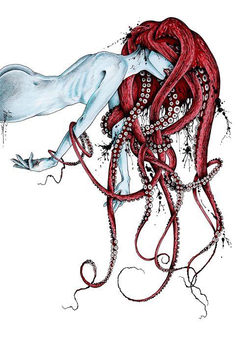 """Septoid"" by taojb7 - prints available on Artsider.com | #octopus #monster…"